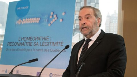 Thomas Mulcair – À la défense de l'homéopathie